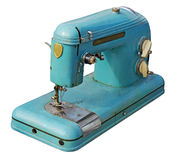 Old electric sewing machine Stock Photos