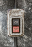 Old electric switch Stock Images