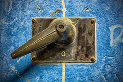 Old electric switch Royalty Free Stock Photography
