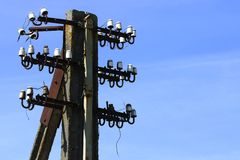 Old electric pole Royalty Free Stock Images