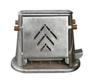 Old electric toaster isolated. Stock Photo