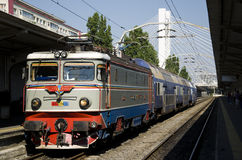 Old electric train Royalty Free Stock Photos