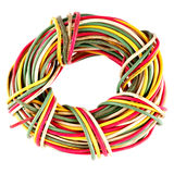 Old electrical cables isolated Stock Image