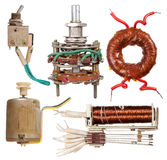 Old electrical components Royalty Free Stock Images