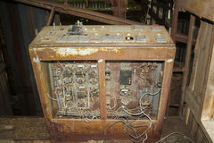 Old electrical control panel. Of grain elevator royalty free stock photos