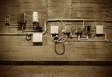 Old electrical equipment Stock Photography