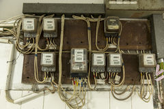 Old electrical installation Royalty Free Stock Photography