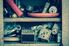 Old electrical junk Royalty Free Stock Images
