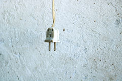 Old electrical plug Royalty Free Stock Images