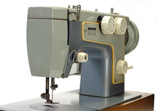 Old electrical sewing machine isolated Stock Photo