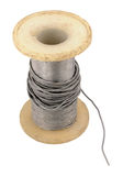 Old Electrical Solder Spool Royalty Free Stock Images