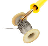 Old Electrical Solder Spool Royalty Free Stock Photos