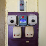 The old electrical switch, the old fan switch. Royalty Free Stock Image