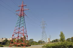 Old electrical towers Stock Images