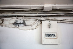 Old electrical wiring Stock Images