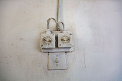 Old electrical wiring Royalty Free Stock Photo
