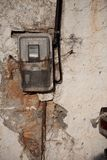 Old electricity meter Royalty Free Stock Images