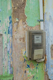 Old electricity meter Royalty Free Stock Image
