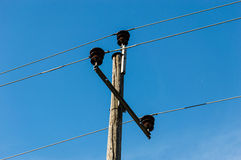 Old electricity pole Stock Image