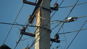 Old Electricity Wires stock video