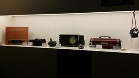 Old electronic appliances. In a museum Stock Images