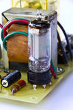 Old electronic board using vacuum tube Royalty Free Stock Images