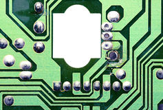 Old electronic chip Stock Photography