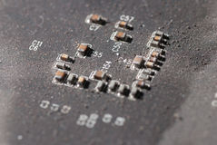 Old electronic circuit board Royalty Free Stock Image