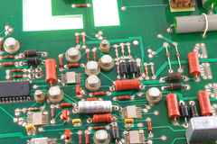 Old electronic circuit board Stock Photography