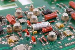 Old electronic circuit board Stock Photo