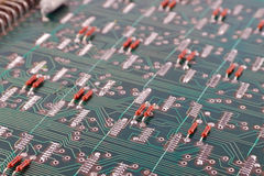 Old electronic circuit board Stock Image