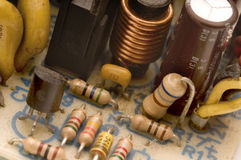 Old electronic circuits Royalty Free Stock Photo