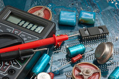 Old electronic components Royalty Free Stock Photography