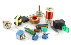 Old electronic components Royalty Free Stock Photos