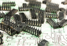 Old electronic components Royalty Free Stock Image