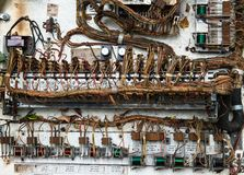 Old Electronic Hardware, Wiring Harness Royalty Free Stock Photography