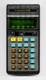 Old electronic pocket calculator Royalty Free Stock Photos