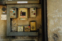 Old electronic switch Royalty Free Stock Images