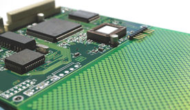 Old electronics circuit board Stock Photography