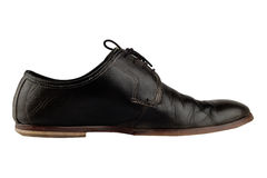 Old and elegant black shoe Royalty Free Stock Images