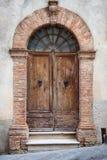 Old elegant door in Italy Stock Photos