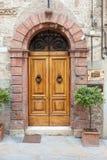 Old elegant door in Italy Stock Images