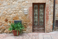 Old elegant door Tuscan Italy Stock Photography