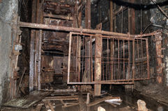 The old elevator in the coal mine royalty free stock images