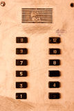 Old elevator panel Stock Images