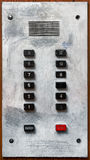 Old elevator panel Stock Image