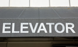 Old Elevator Sign Stock Images