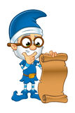 Old Elf Character In Blue Stock Image