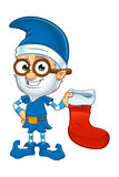 Old Elf Character In Blue royalty free illustration