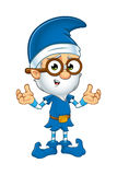 Old Elf Character In Blue Royalty Free Stock Images